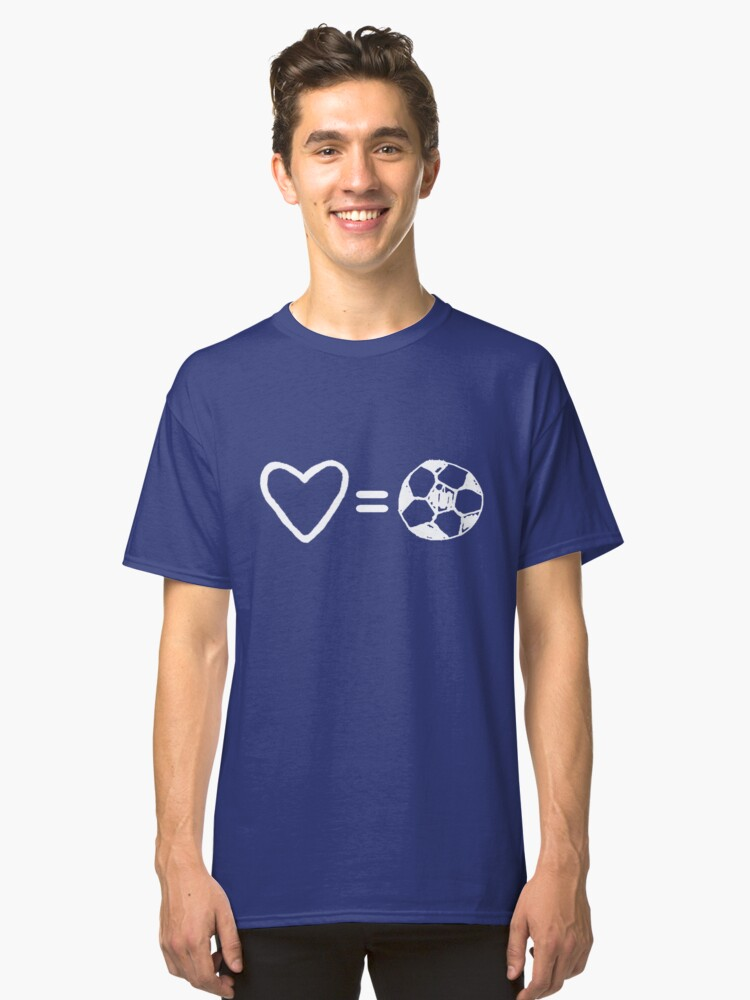 Love Equals Soccer Classic T-Shirt Front