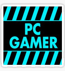 Warning Pc Gamer (blue) Sticker