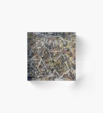 Jackson Pollock. Alchemy  Acrylic Block