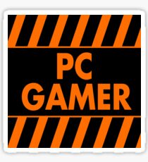 Warning Pc Gamer (yellow) Sticker