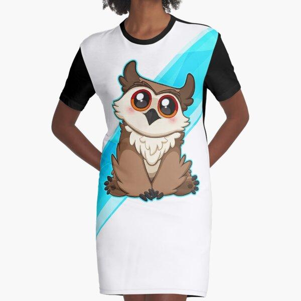 Adorable Owlbear - Cute D&D Adventures Graphic T-Shirt Dress