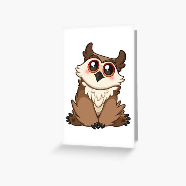 Adorable Owlbear - Cute D&D Adventures Greeting Card
