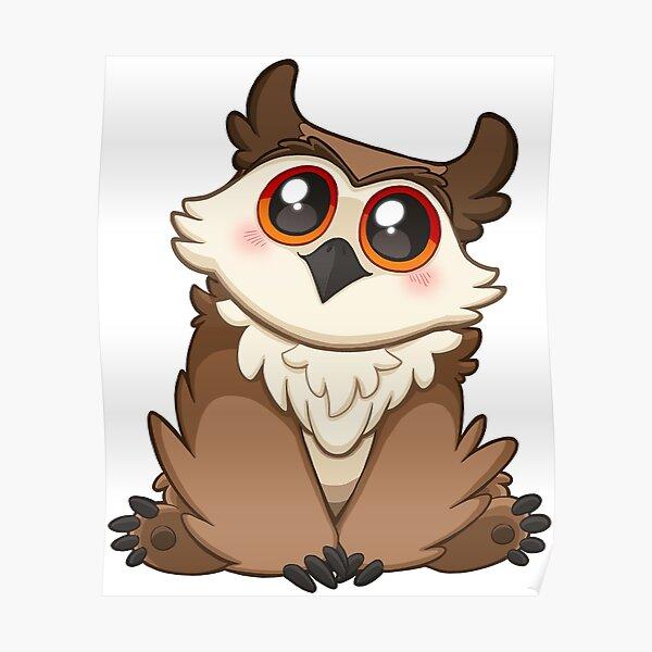 Adorable Owlbear - Cute D&D Adventures Poster