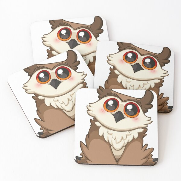 Adorable Owlbear - Cute D&D Adventures Coasters (Set of 4)