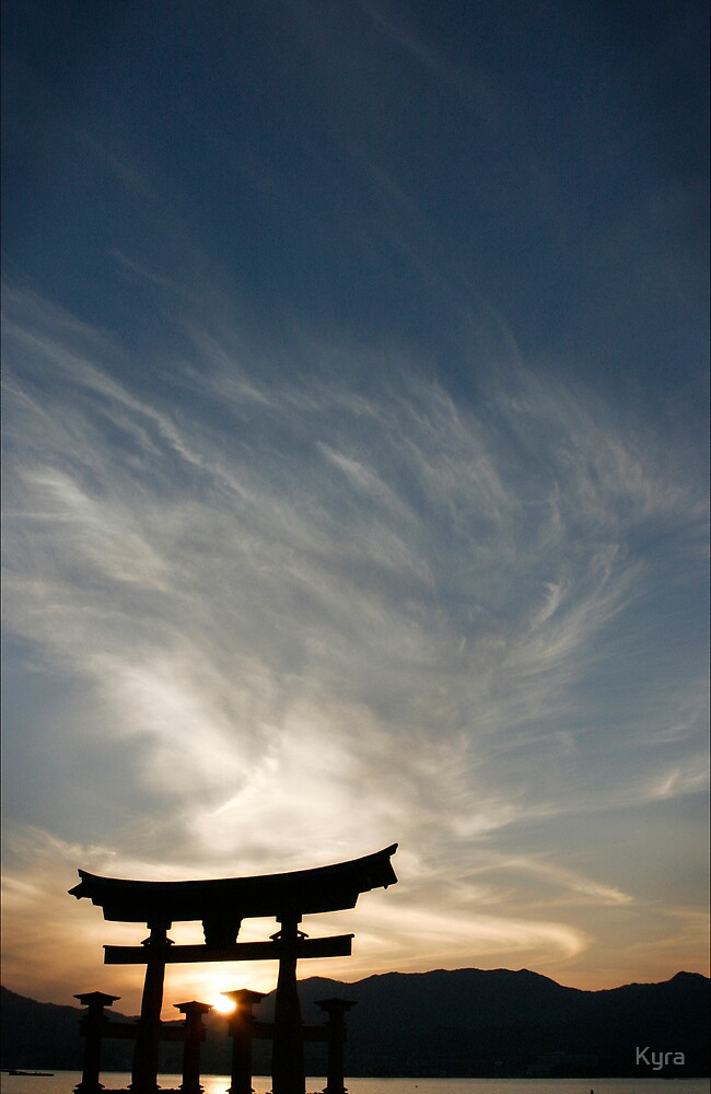 Miyajima sunset by Kyra  Webb