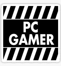 Warning Pc Gamer (white) Sticker