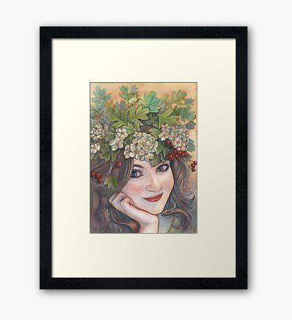 The Hawthorn Queen. Framed Print