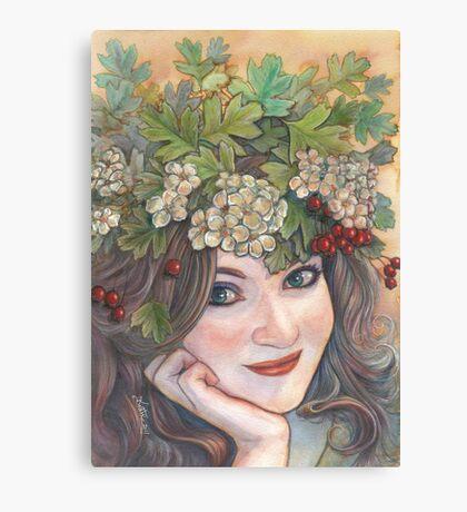 The Hawthorn Queen. Canvas Print