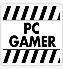Warning Pc Gamer (black) Sticker