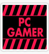 Warning Pc Gamer (red-pink) Sticker