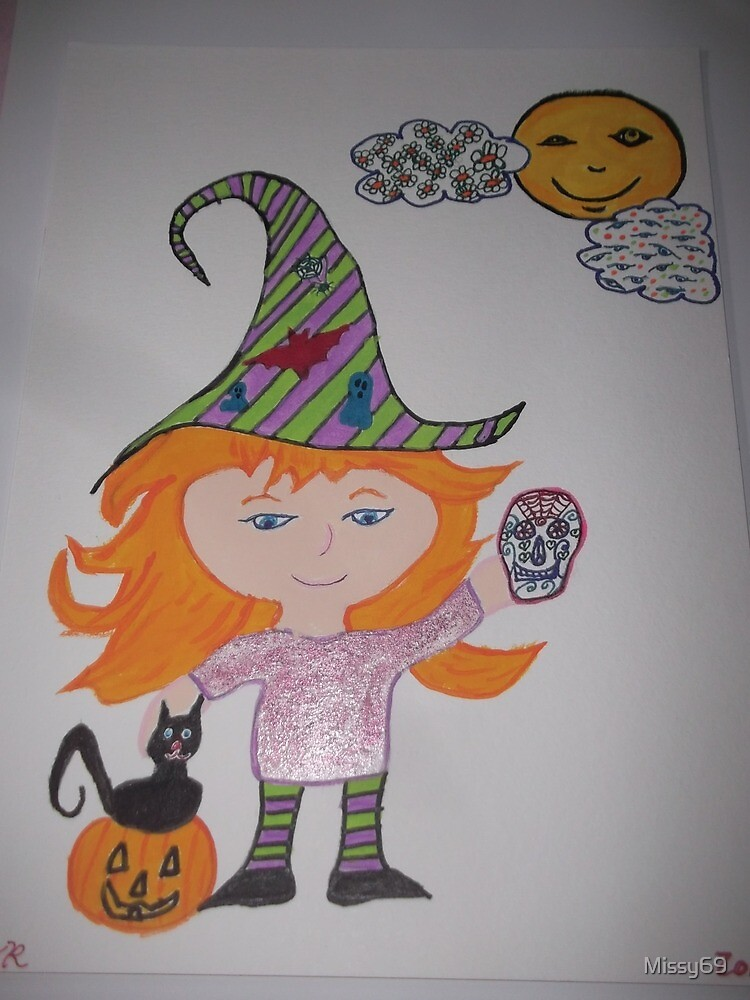 Orange Haired Halloween Witch by Missy69