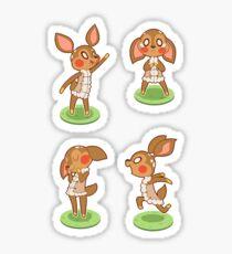 deer girls Sticker