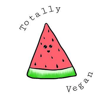 Totally Vegan Watermelon  by killkillian