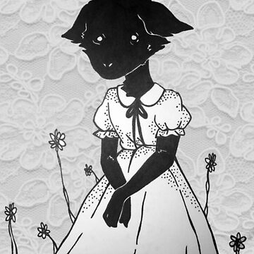 Lace Goat Girl In Dress by LondonMichaelis