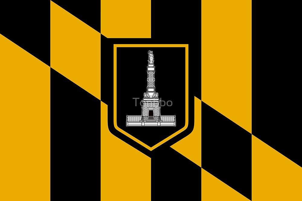 Flag of Baltimore, Maryland by Tonbbo