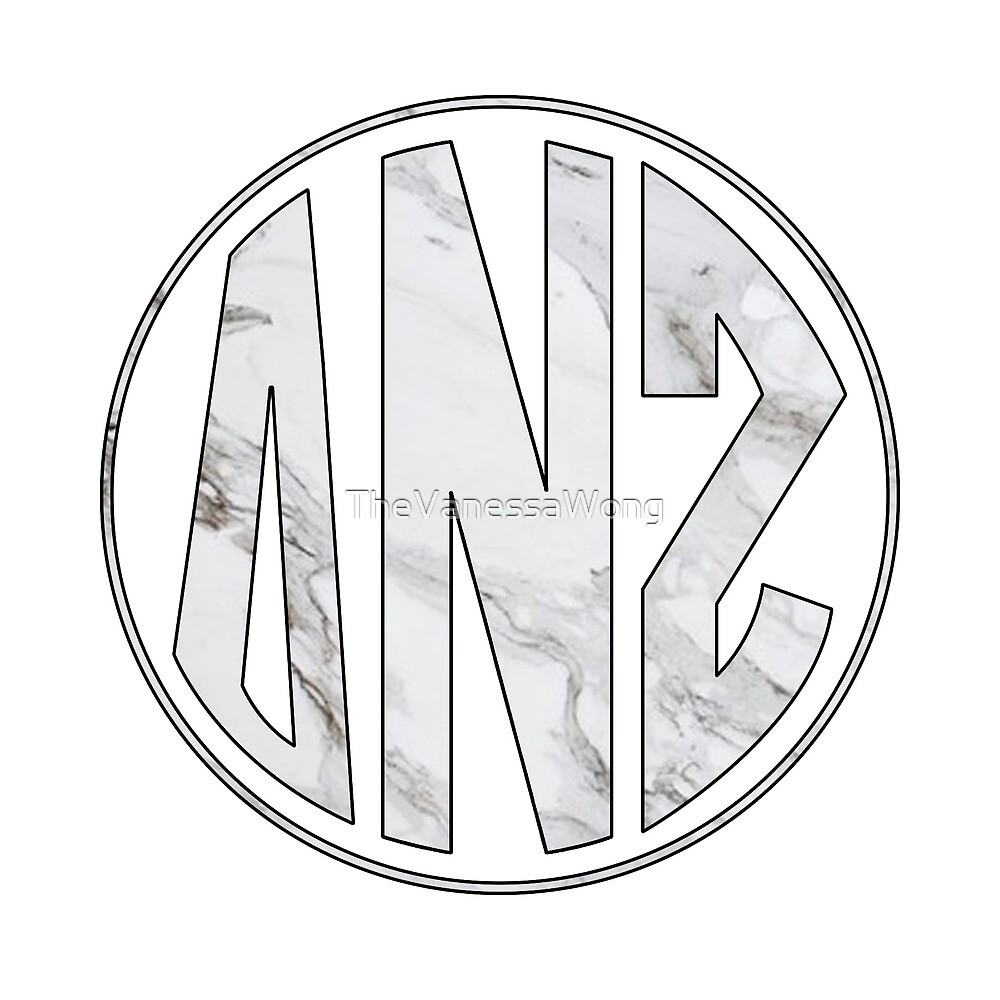 Delta Nu Zeta - Marble Monogram Circle by TheVanessaWong