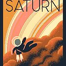 SATURN Space Tourism Travel Poster by sp8cebit