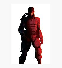 Solid Snake Sticker - Metal Gear Solid Photographic Print