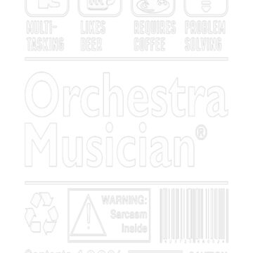 Orchestra Musician Multitasking Beer Coffee T-Shirt  by fvu96093
