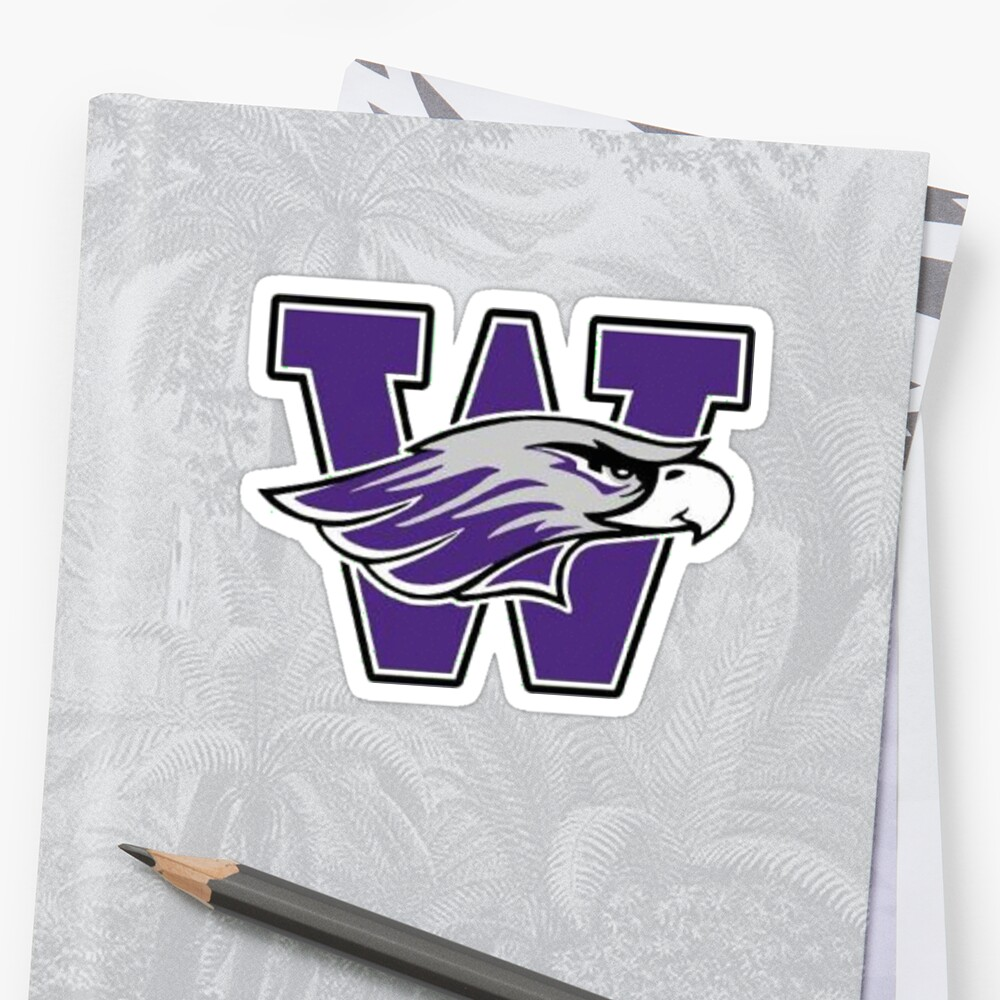 Quot Uw Whitewater Warhawk W Quot Sticker By Caruso Uno Redbubble