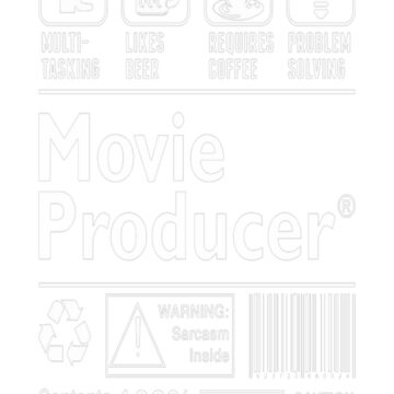 Movie Producer Multitasking Beer Coffee Problem T-Shirt  by fvu96093