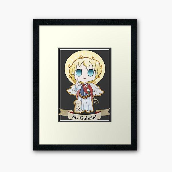 Chibi St. Gabriel Framed Art Print