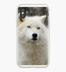 Arctic Wolf Close Up iPhone Case