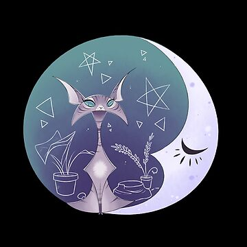 Purple Crescent Kitty by Wreaux