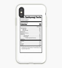 Nutrition Facts: BTS Taehyung- iPhone Ver iPhone Case