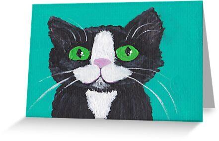 tuxedo cat by frumpybuncrafts