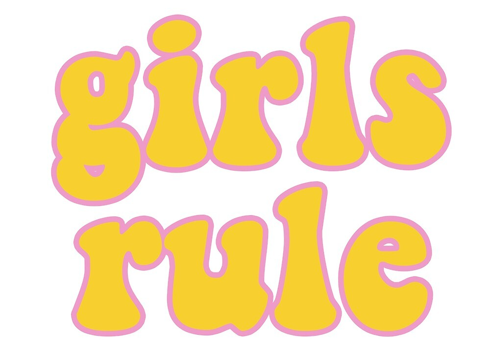 Girls Rule Hippie Sticker by baileymincer