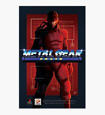 "Original Metal Gear Solid ""Snake"" Retro Poster Photographic Print"