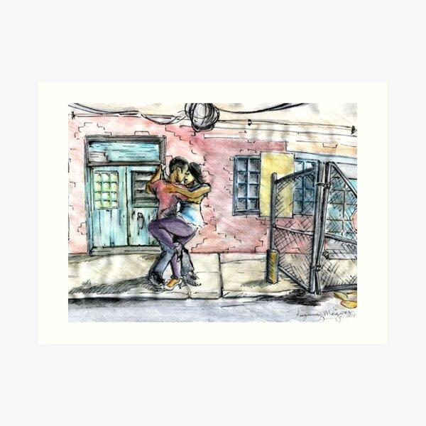 Backstreet Dances Art Print