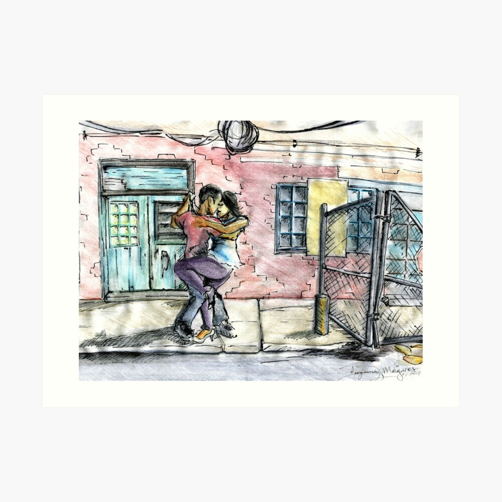Backstreet Dances Art Print