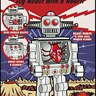 Tino the Heart Operated Toy Robot (Classic) by barrileart