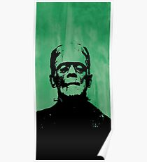 Frankenstein on Green Poster