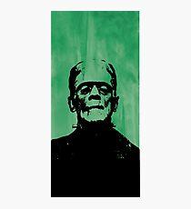 Frankenstein on Green Photographic Print