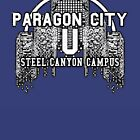 CITY OF HEROES UNIVERSITY SHIRTS - Steel Canyon by TalenLee