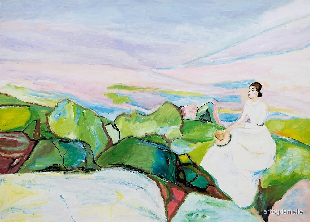 Girl on the Cliff by artbydanielle