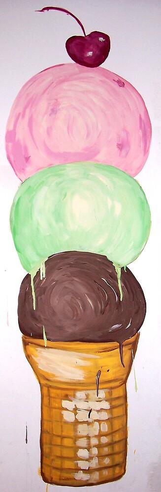 """""""Ice Cream Wall Mural"""" by Adela bellflower"""