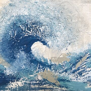 Wave Off Kanagawa Abstract Japanese Asian Art by Brushedinbold