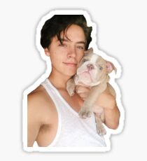 Cole Sprouse and Puppy Sticker