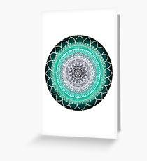 Green and Grey Mandala Greeting Card