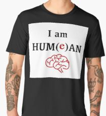 David Hume Philosophy Fanart - I Am Hum(e)an Men's Premium T-Shirt
