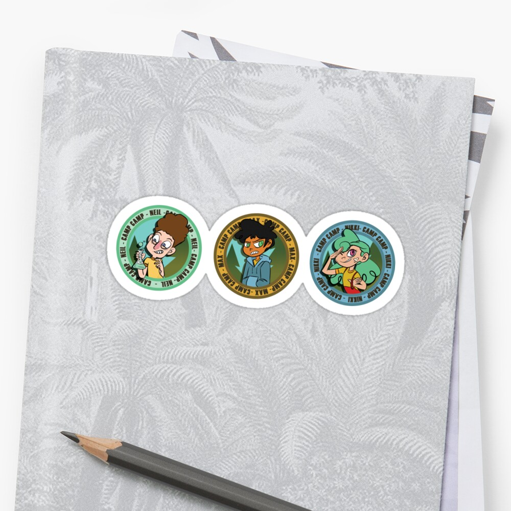 Camp Camp Trio Badges set by holyissovain