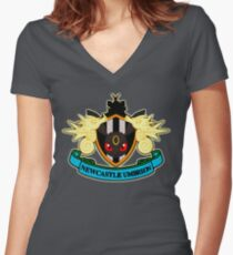 Newcastle Umbreon - National Pokeball League Women's Fitted V-Neck T-Shirt