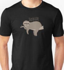 Sloth Life - Happy Lazy Sloth on Branch Unisex T-Shirt