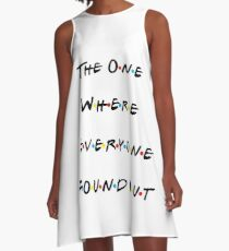 Friends Themed Pregnancy Announcement A-Line Dress