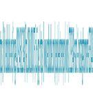 Beautiful Blue Heart Beat Design by Joy Watson