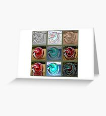 Marble Madness Greeting Card